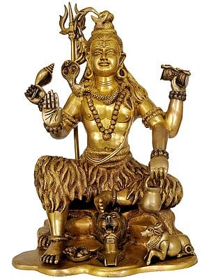 Four-Armed Brass Image of Yogeshvara Shiva