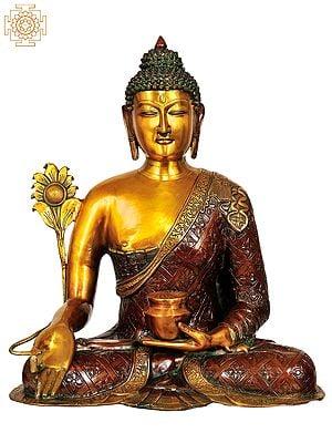 (Tibetan Buddhist Deity) Large Size Bhaishajyaguru - The Medicine Buddha