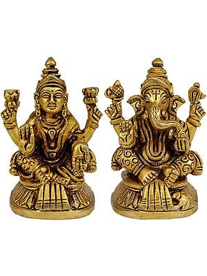 Shri Ganesha and Goddess Lakshmi