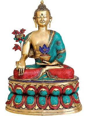 Large Size of Tibetan Buddhist God Medicine Buddha