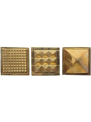 Vastu Pyramid (Set of Three): 91 Pyramids in Total