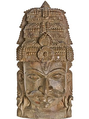 Wall Hanging Mask of Arjuna