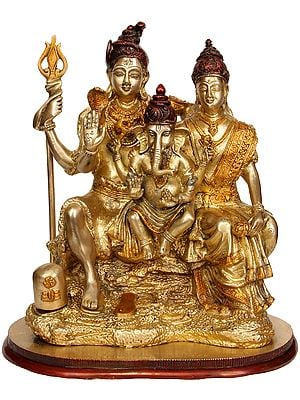 Shiva-Parvati with Ganesha