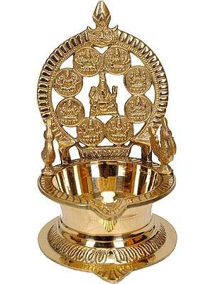 Ganesha with Ashtalakshmi Puja Lamp