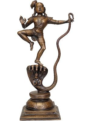 Lord Krishna Dancing on Serpent Kaliya