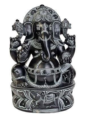 Four Armed Seated Ganesha