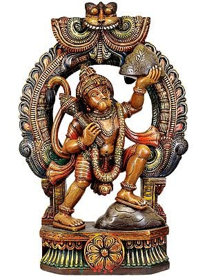 Hanuman Ji Carrying Mount Dron of Sanjeevani Herbs