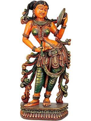 Large Size Lady with Mirror (Apsara)