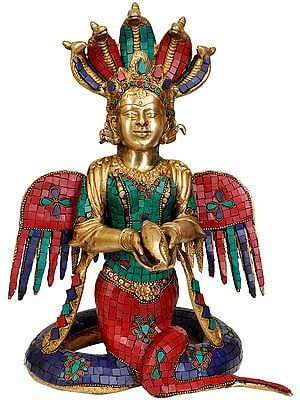 Five-hooded Naga-kanya (Inlay Statue)