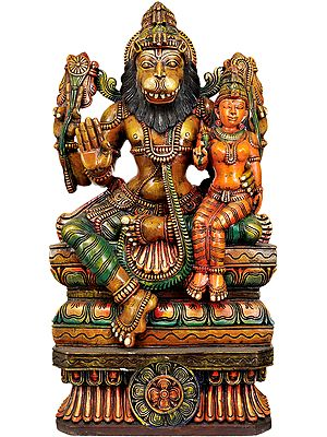 Bhagawan Narasimha with Lakshmi Ji