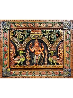 Bhagawan Vishnu (Wall Hanging Carved in Relief)
