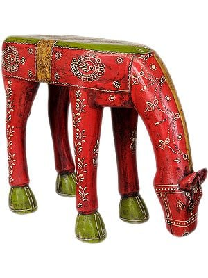 Decorated Horse Table