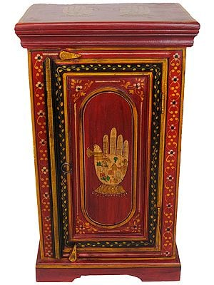 Decorated Chest with the Image of Auspicious Hands and Feet