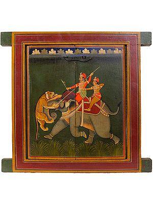 Jharokha (Window) with Hunting Scene