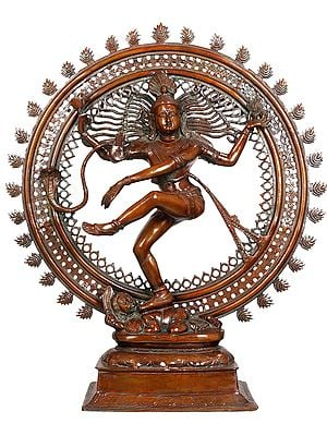 Large Size Nataraja in Brown Hue