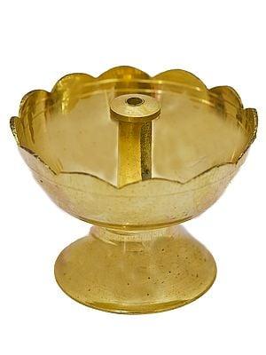 Lotus Wick Puja Lamp
