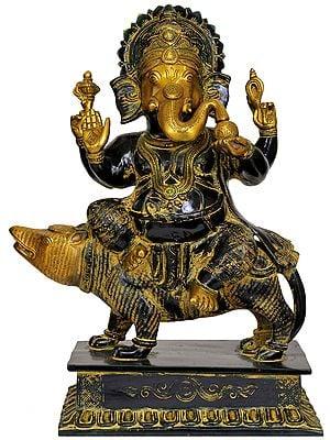 Bhagawan Ganesha Seated on Rat