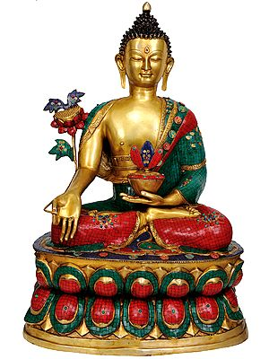 Large Size Finest Medicine Buddha Money Can Buy (Tibetan Buddhist Deity)