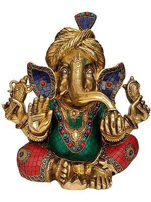 Ganesha with Turban