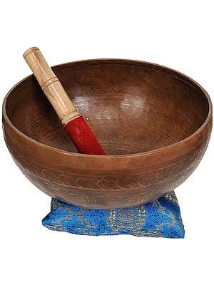 Tibetan Buddhist Singing Bowl with Cushion