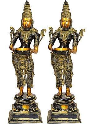 Large Size Deeplakshmi Pair