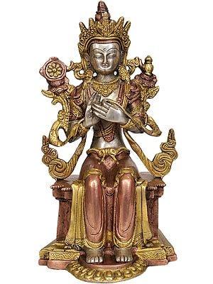 Tibetan Buddhist Deity Maitreya Buddha