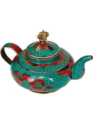 Tibetan Buddhist Ritual Kettle with Dorje