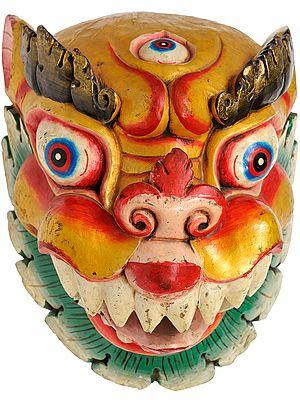 Wrathful Mask of Tibetan Buddhist Deity