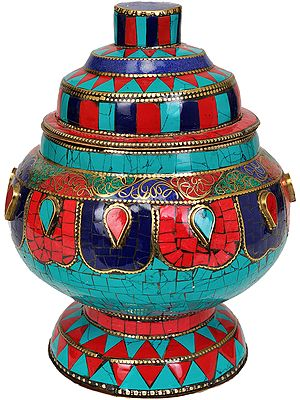 Tibetan Ritual Buddhist Vase