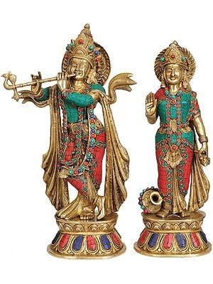 Krishna and Radha (Inlay Statue)