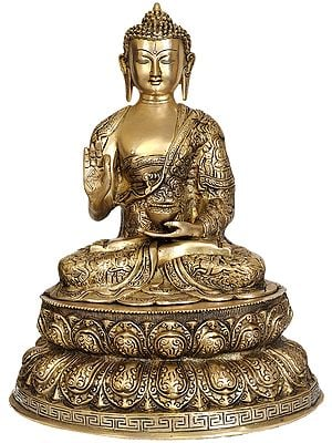 Lord Buddha on Double Lotus