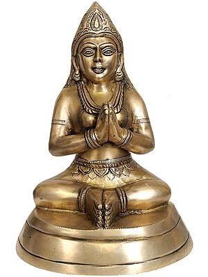 Devotee In Namaste
