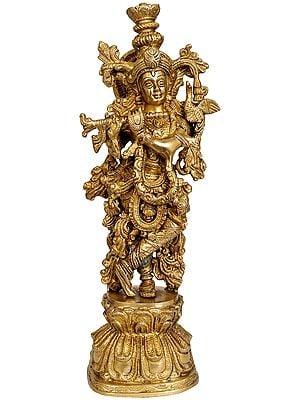 Sri Krishna Playing His Flute