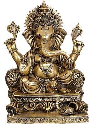 Large Size Lord Ganesha Granting Abhaya
