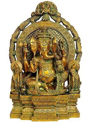 Ganesha Seated in Maharaja Lila Asana