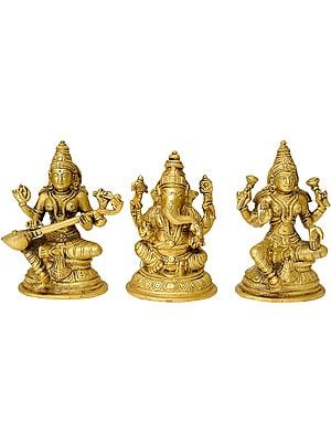 The Great Trinity - Saraswati, Ganesha and Lakshmi