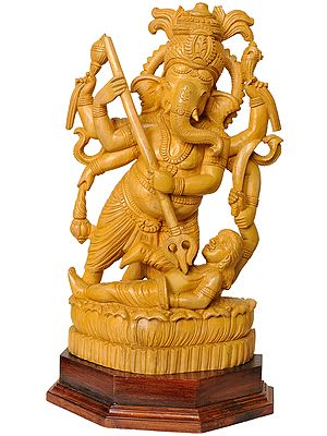 Lord Ganesha Killing Asura