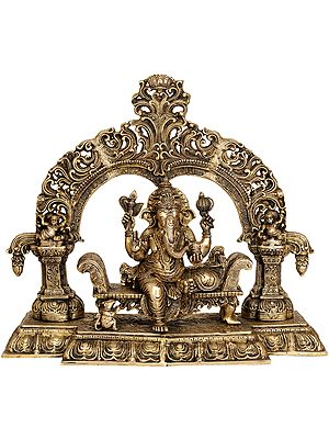 Large Size Enthroned Ganesha