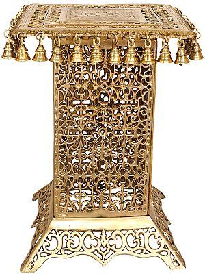 Ornate Lattice Chowki (Pedestal)