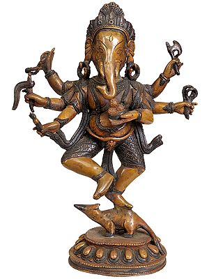 Dancing Ganesha on Rat
