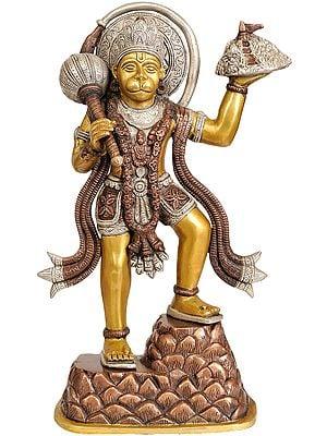 Shri Hanumanji Carrying Sanjeevani Mountain