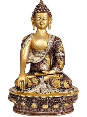 Lord Buddha in the Bhumisparsha Mudra (Robes Decorated with Scenes from the Life of Buddha)