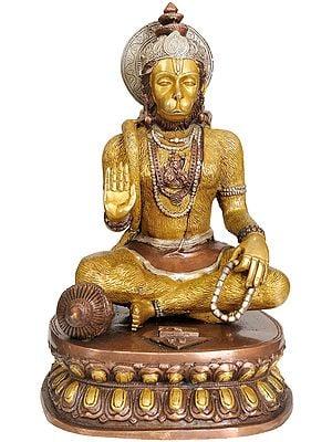 Lord Hanuman Granting Abhaya (Lord Rama Depicted in His Heart)