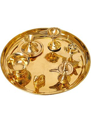 Puja Thali for Worship of Shiva Linga
