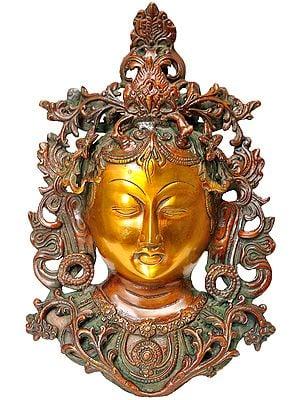 Tara Wall Hanging Mask (Tibetan Buddhist Deity)