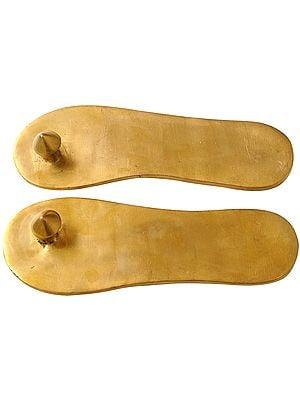Charan Paduka (Khadau) - Brass Sandals for Auspicious Occassions