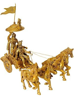 Krishna Drives Arjuna's Chariot in The Mahabharata