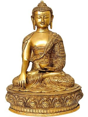 Buddha in the Bhumi-Sparsha Mudra (Robes Decorated with the Scenes of His Life)