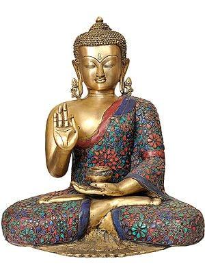 Large Size Tibetan Buddha in the Vitarka Mudra