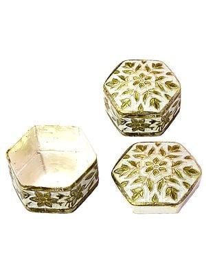 Sterling Meenakari Floral Box